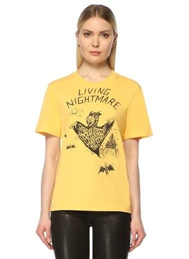 McQ Alexander McQueen Desenli Tişört Sarı